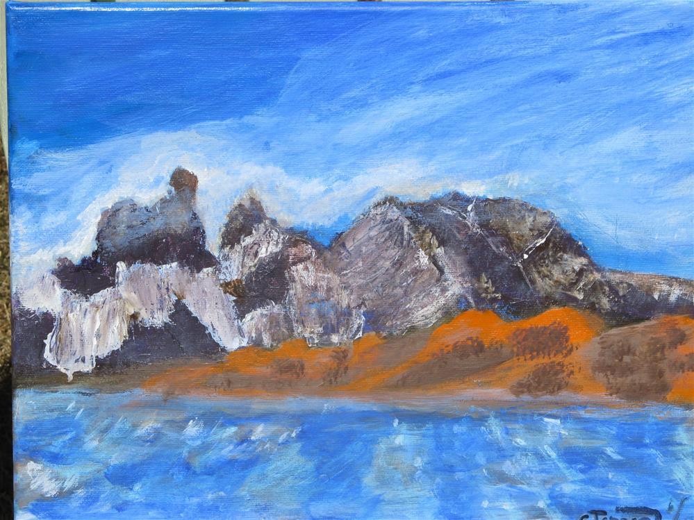 """Sailing around patagonia"" original fine art by Cindy Jensen"