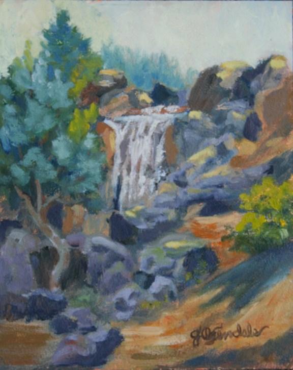 """Como Falls"" original fine art by Jan Oxendale"
