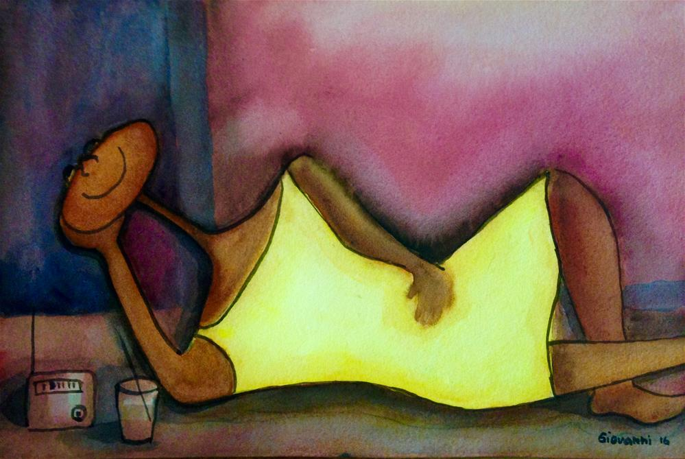 """""""Relaxing time"""" original fine art by Giovanni Antunez"""