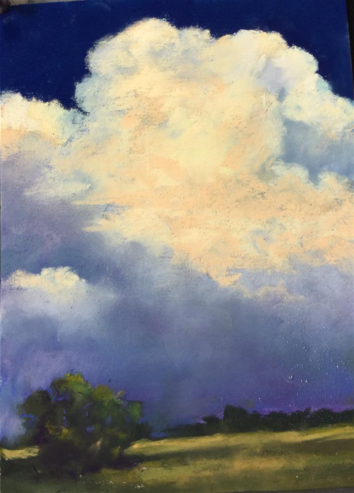 """Billowing cumulus"" original fine art by Jan Hutchinson"