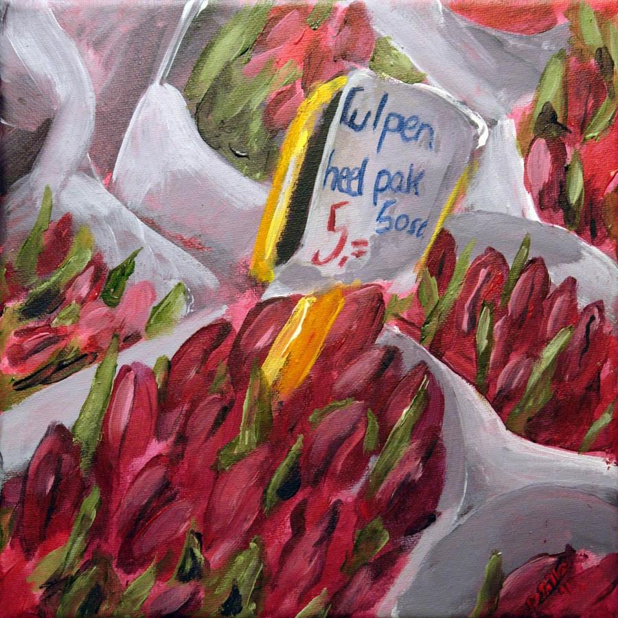 """0570 Tulips - Tulpen"" original fine art by Dietmar Stiller"