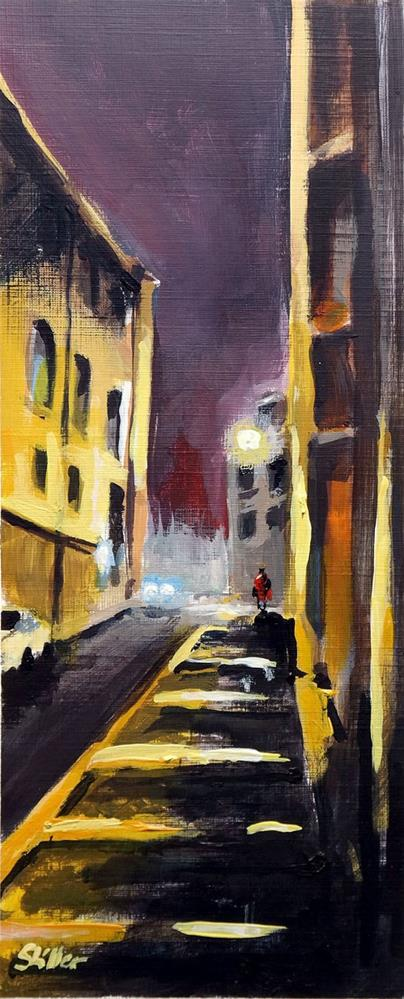 """1927 Alfama by Night"" original fine art by Dietmar Stiller"
