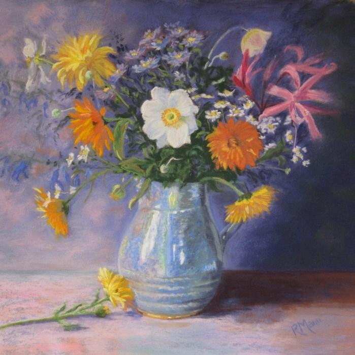 """""""Autumn Vase"""" original fine art by Ruth Mann"""