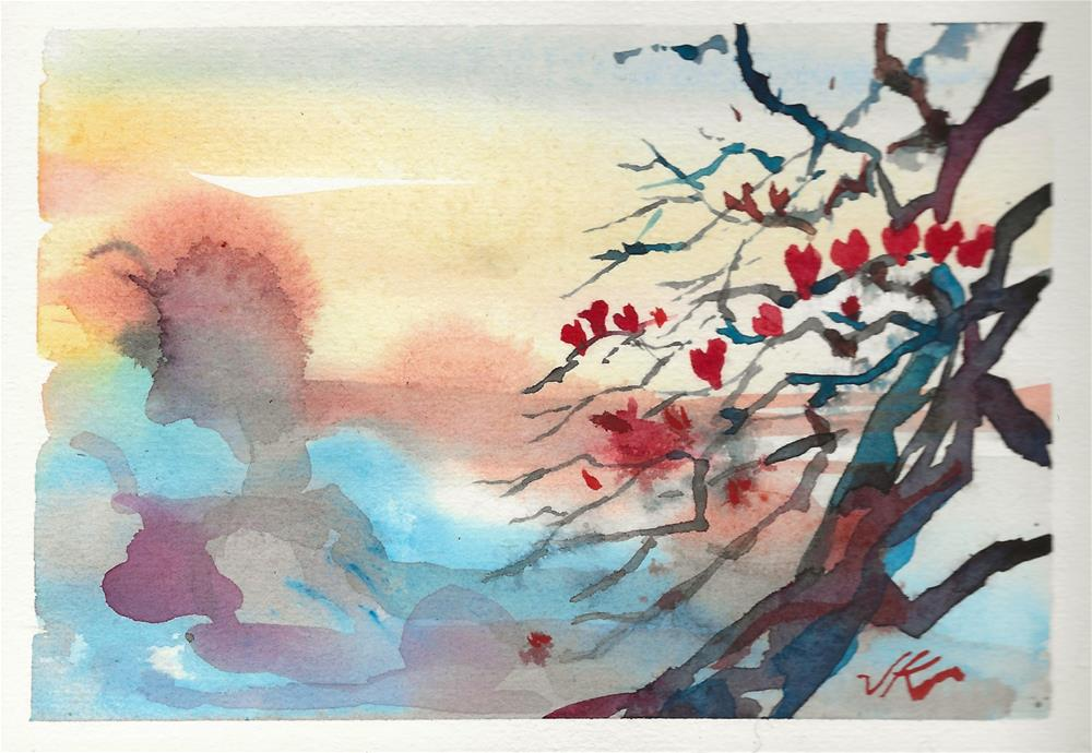 """""""Winter Hearts"""" original fine art by Jean Krueger"""