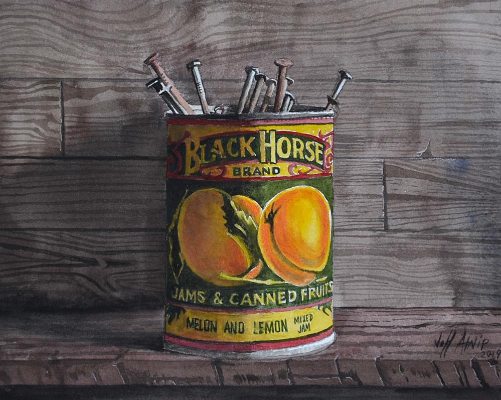 """Recycled Can"" original fine art by Jeff Atnip"