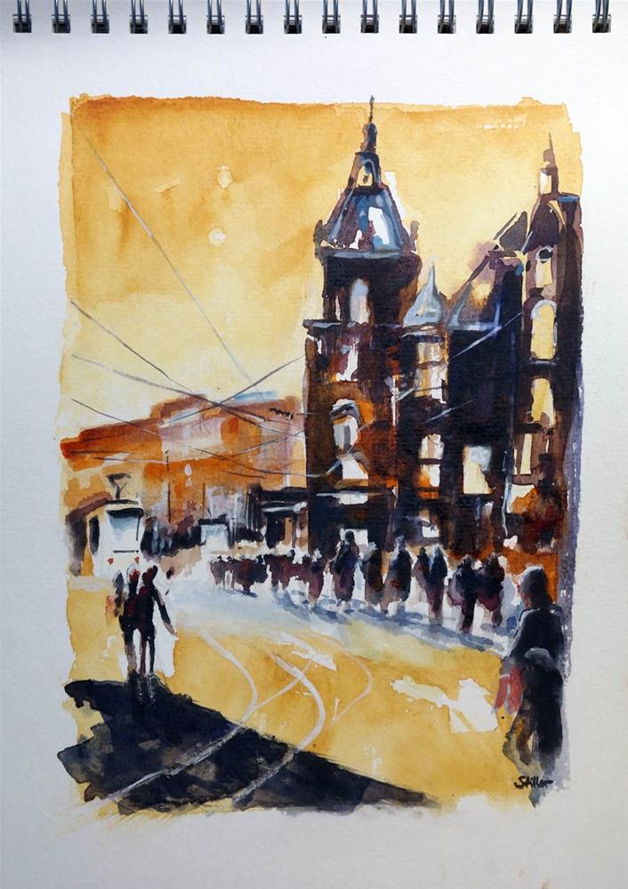 """3226 Amsterdam Evening Mood"" original fine art by Dietmar Stiller"