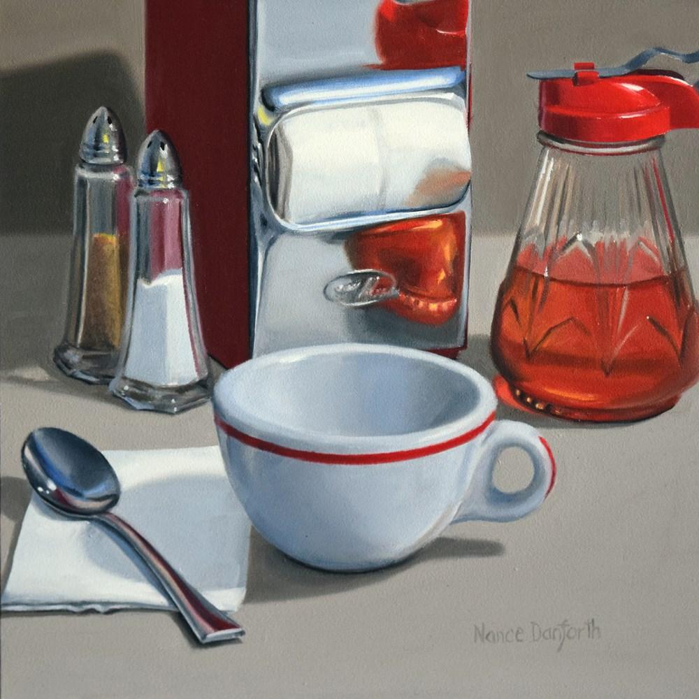 """Need A Warmup?"" original fine art by Nance Danforth"