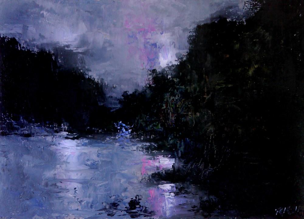 """Rocky Cove"" original fine art by Bob Kimball"