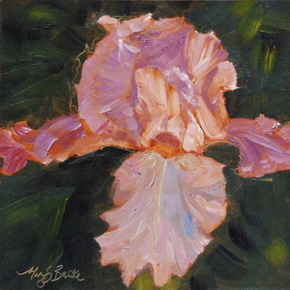 """Lively Iris"" original fine art by Mary Benke"