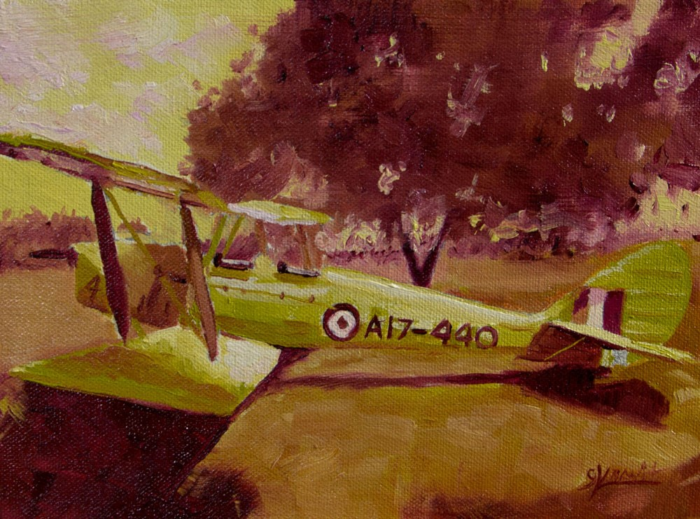 """Tiger Moth Study #2 in Yellow Green and Red Violet"" original fine art by Garry Kravit"