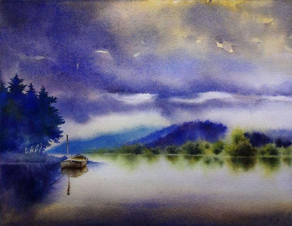 """Tranquility"" original fine art by Arena Shawn"