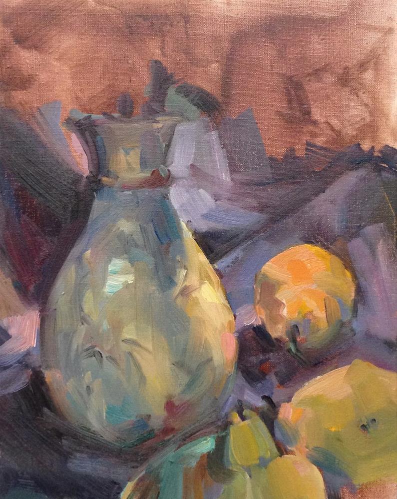 """Vase With Pears"" original fine art by Patti McNutt"