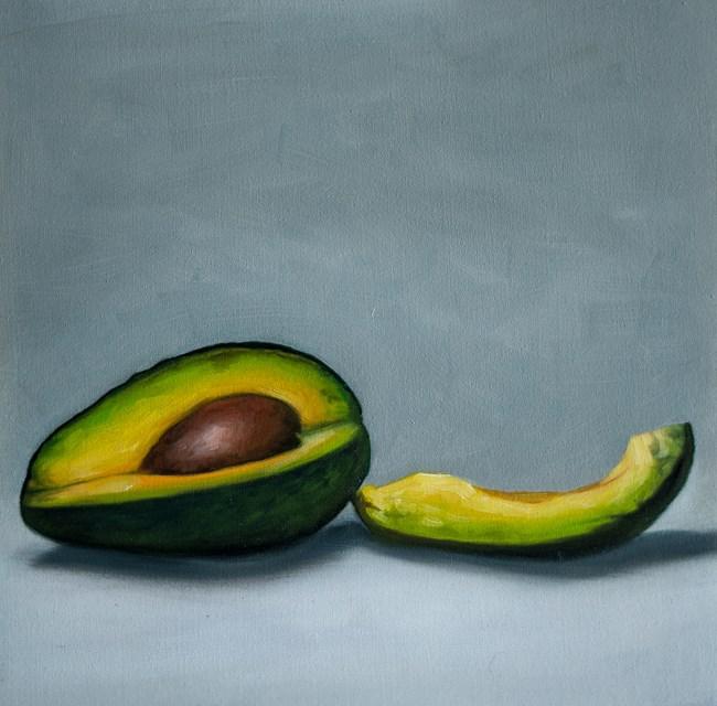 """Avocado Slice"" original fine art by Lauren Pretorius"