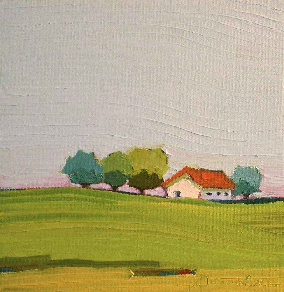 """Blue and Orange"" original fine art by Donna Walker"