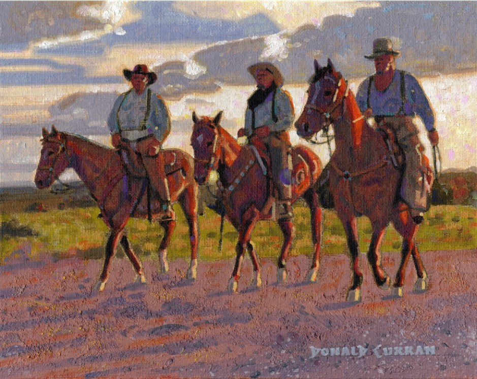 """Three Amigos"" original fine art by Donald Curran"