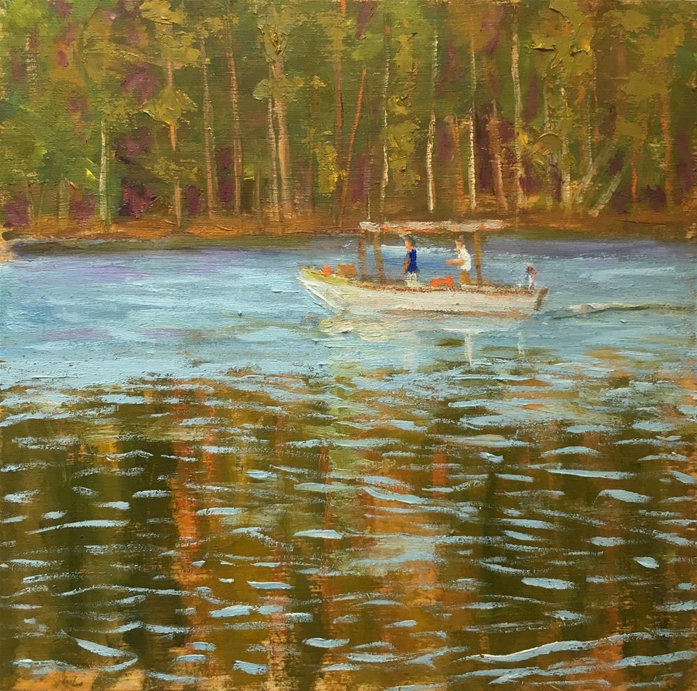 """""""Out Toward the Bay"""" original fine art by Shari Goddard Shambaugh"""