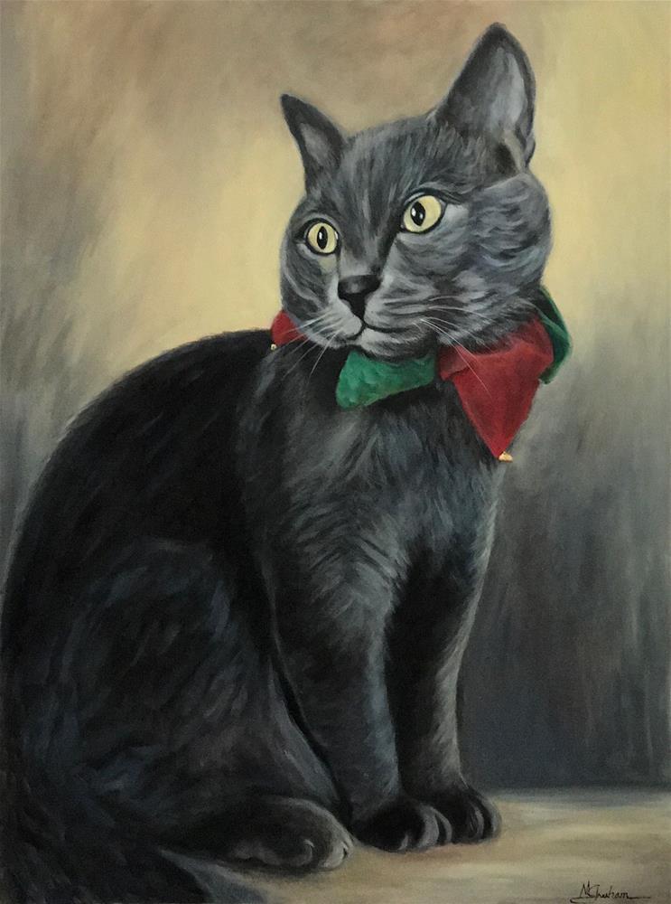 """Smokey"" original fine art by Melissa Gresham"