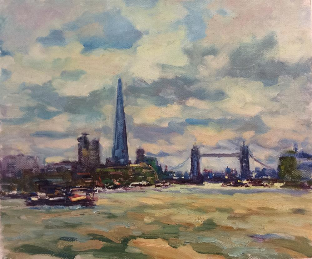 """Across to Tower Bridge"" original fine art by John Shave"