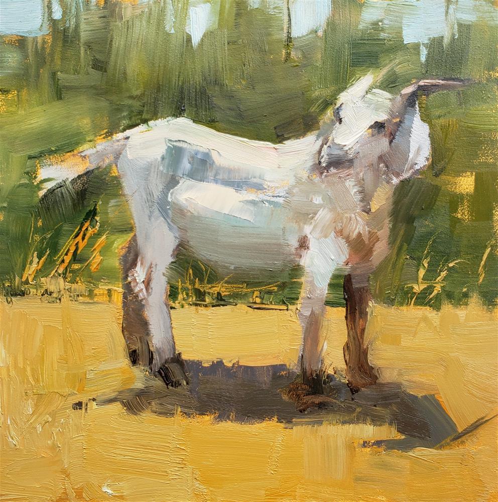 """""""Friendly Goat"""" original fine art by Barbie Smith"""