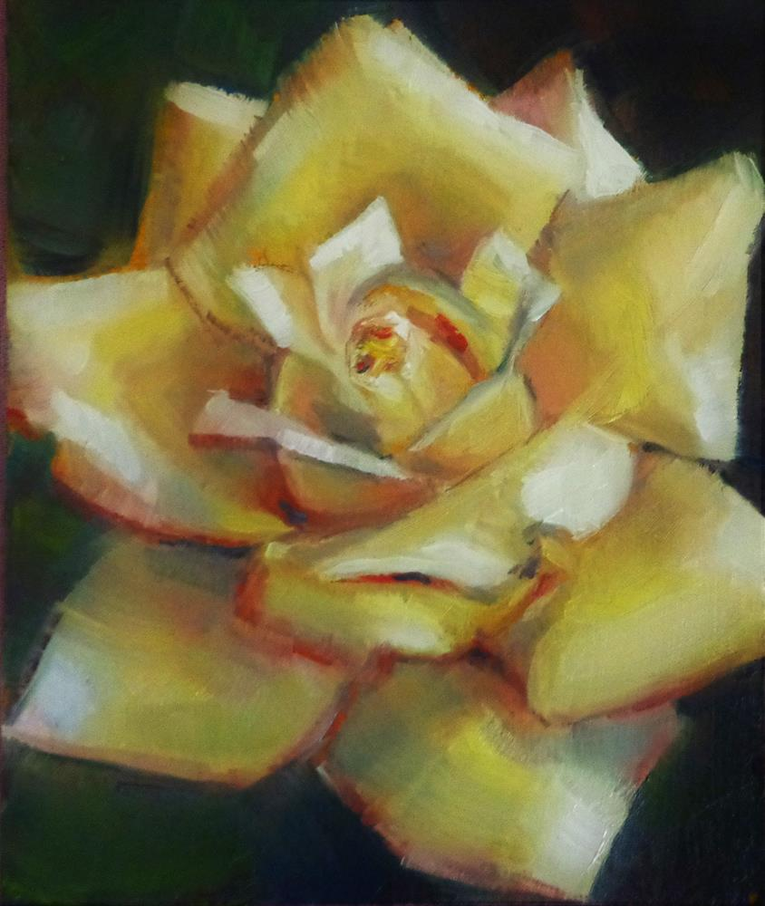 """Yellow rose"" original fine art by Maria Z."