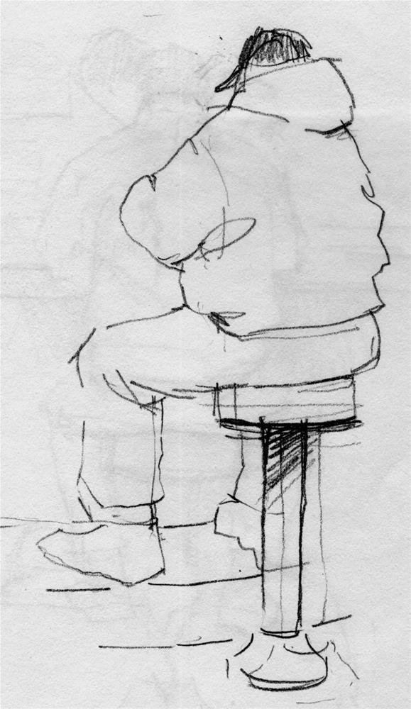 """""""BACK to the diner"""" original fine art by Kathy Weber"""