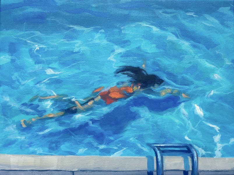 """""""The Goldfish"""" original fine art by Mary Pargas"""