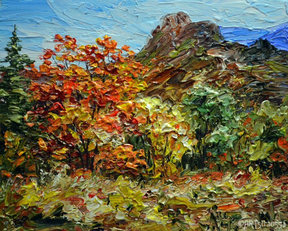 """Autumntime in McKittrick Canyon"" original fine art by Gloria Ester"