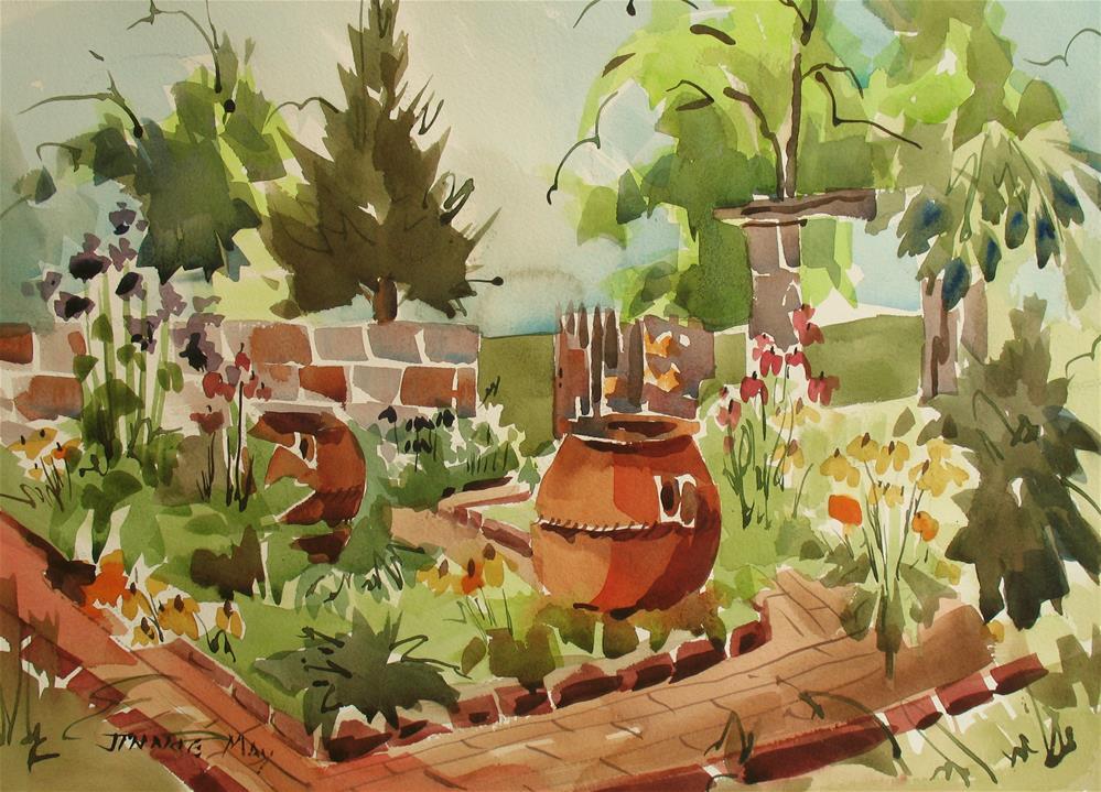 """The Cross Estate"" original fine art by Jinnie May"