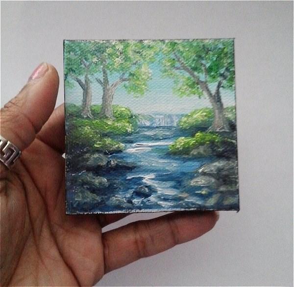 """Waterfall"" original fine art by Camille Morgan"