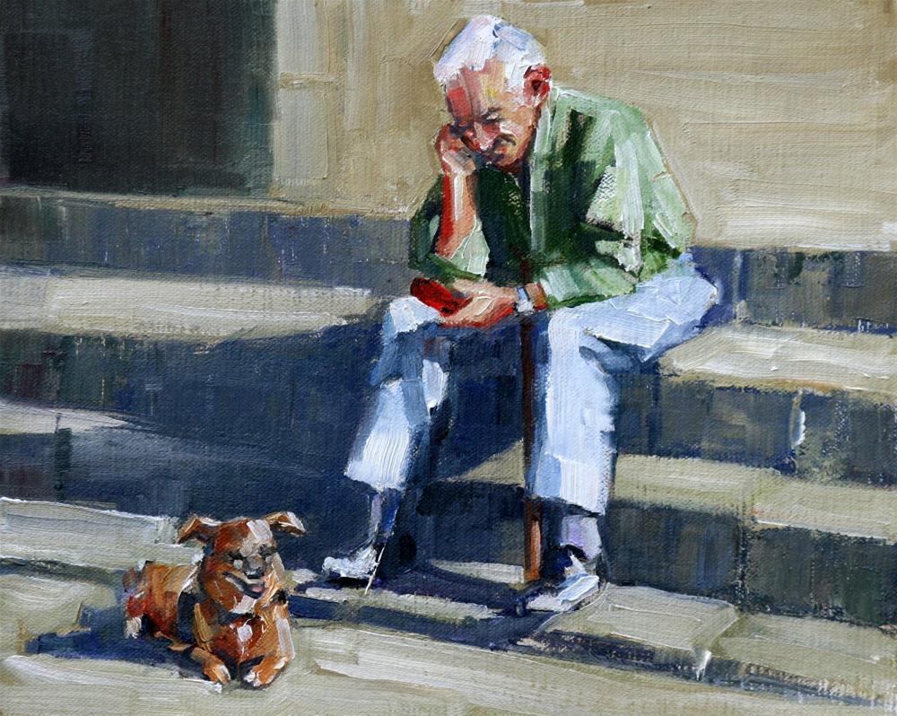 """checking in"" original fine art by Carol Carmichael"
