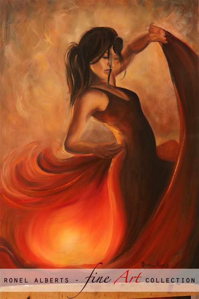 """Spanish flair"" original fine art by Ronel Alberts"