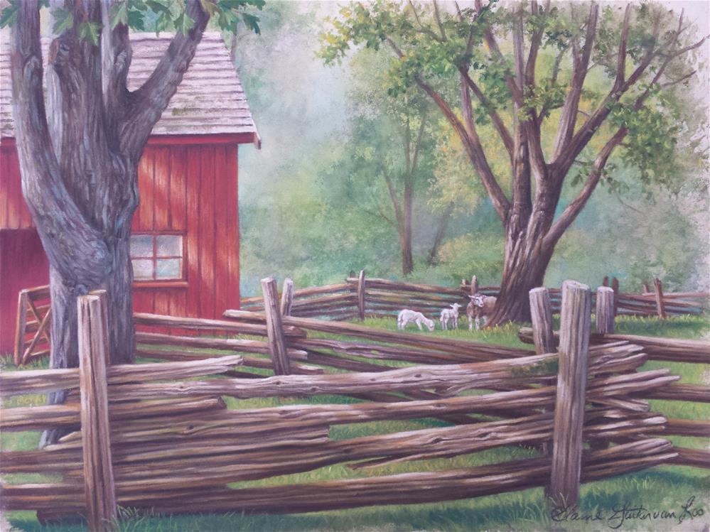 """Heritage Farm"" original fine art by Elaine Guitar van Loo"