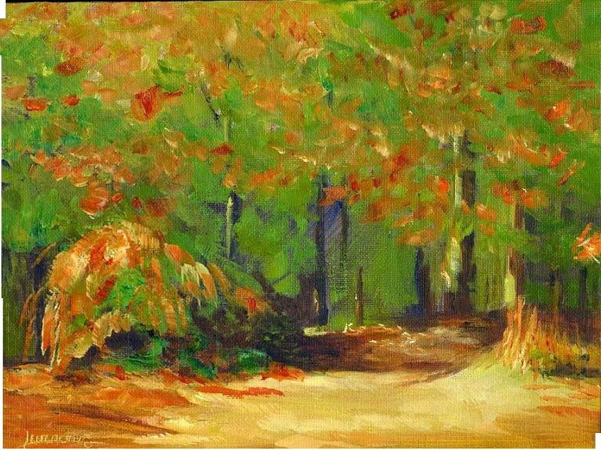 """Autumn Colors and Jefferson Center"" original fine art by Sue Furrow"