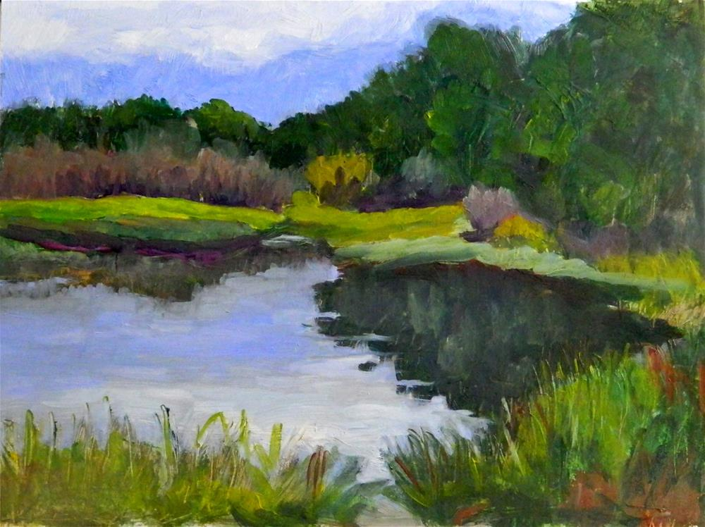 """""""River Reflections"""" original fine art by Sharon Yarbrough"""