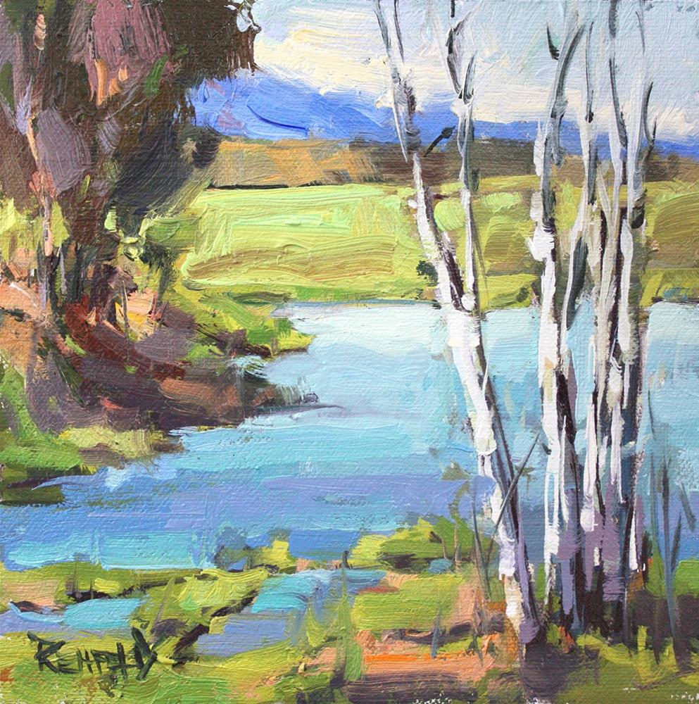 """Colors of Spring"" original fine art by Cathleen Rehfeld"