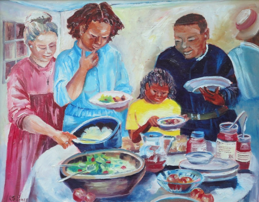 """Potluck"" original fine art by R. S. Perry"