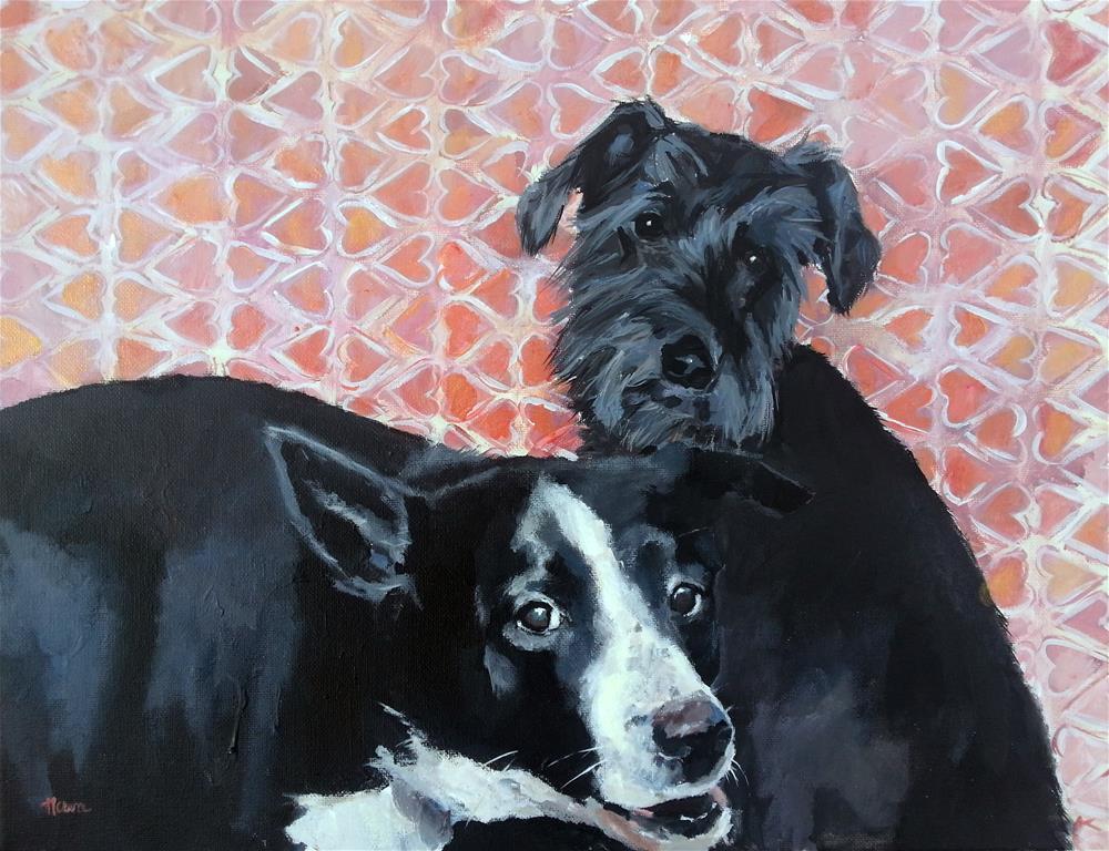 """""""Hank and Chopper"""" original fine art by Nava Judith"""