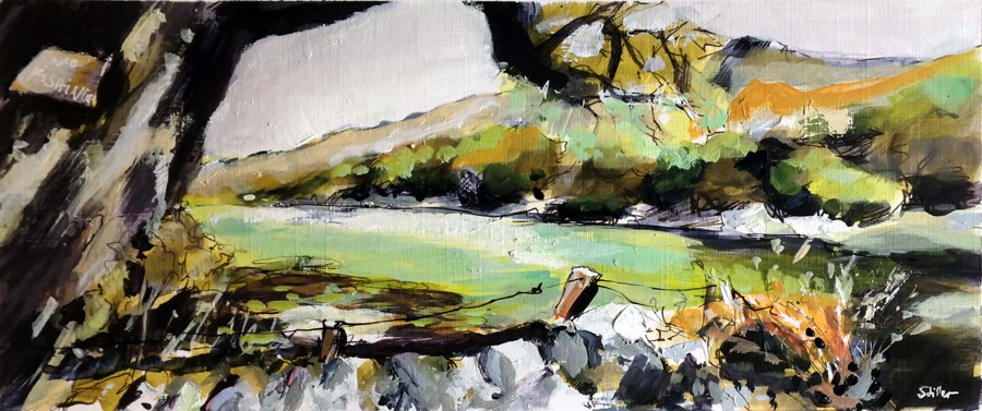 """2942 Country View 02"" original fine art by Dietmar Stiller"