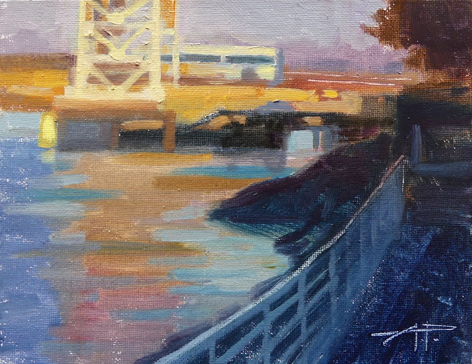 """Bright Bridge - Views from Alameda"" original fine art by Anette Power"
