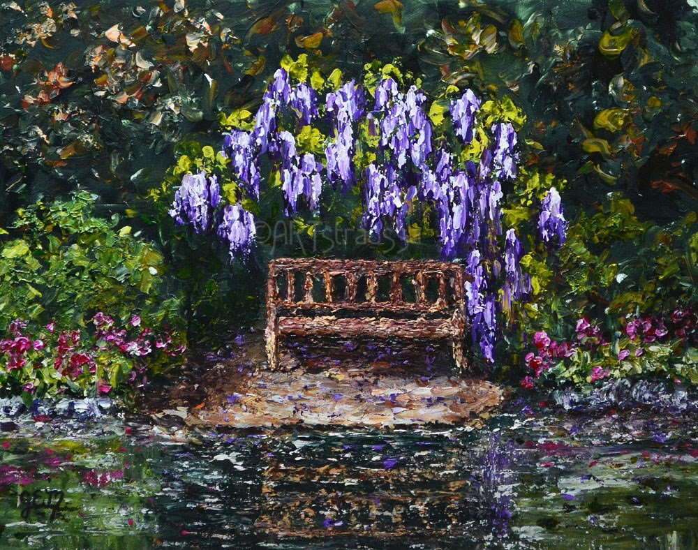 """Wisteria Getaway"" original fine art by Gloria Ester"