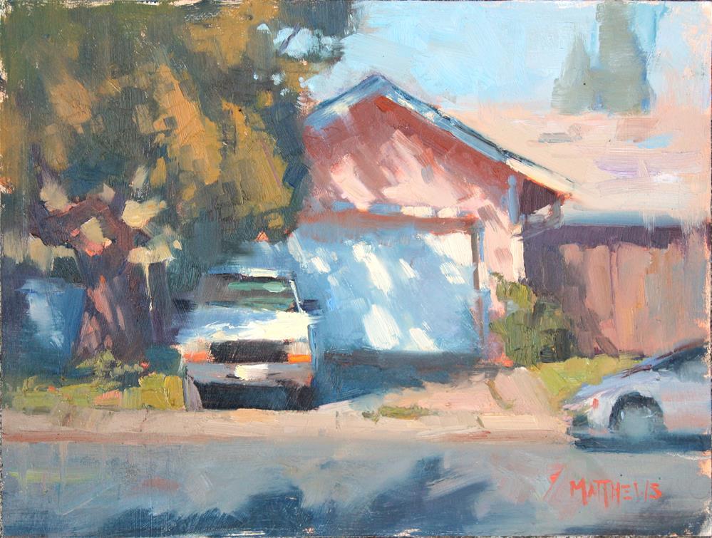 """Dappled Driveway"" original fine art by Kristian Matthews"