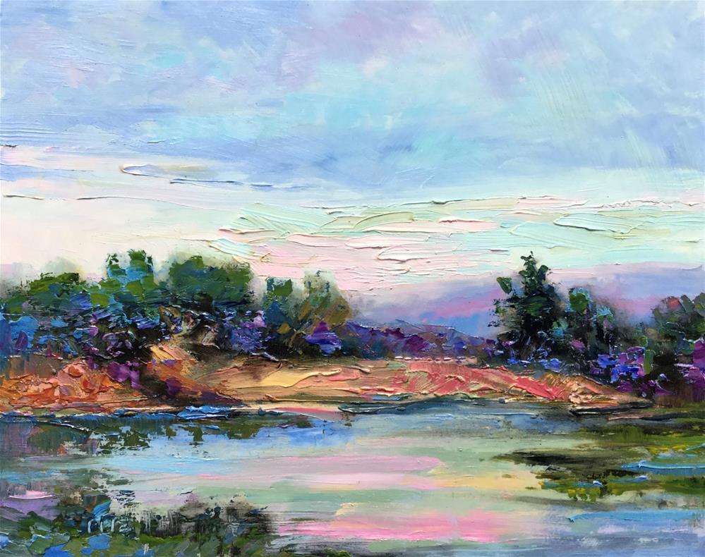 """""""Impasto Seascape 14"""" original fine art by Charlotte Fitzgerald"""
