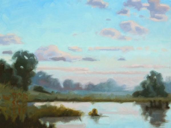 """Study for Morning Reflection 3"" original fine art by Les Dorscheid"