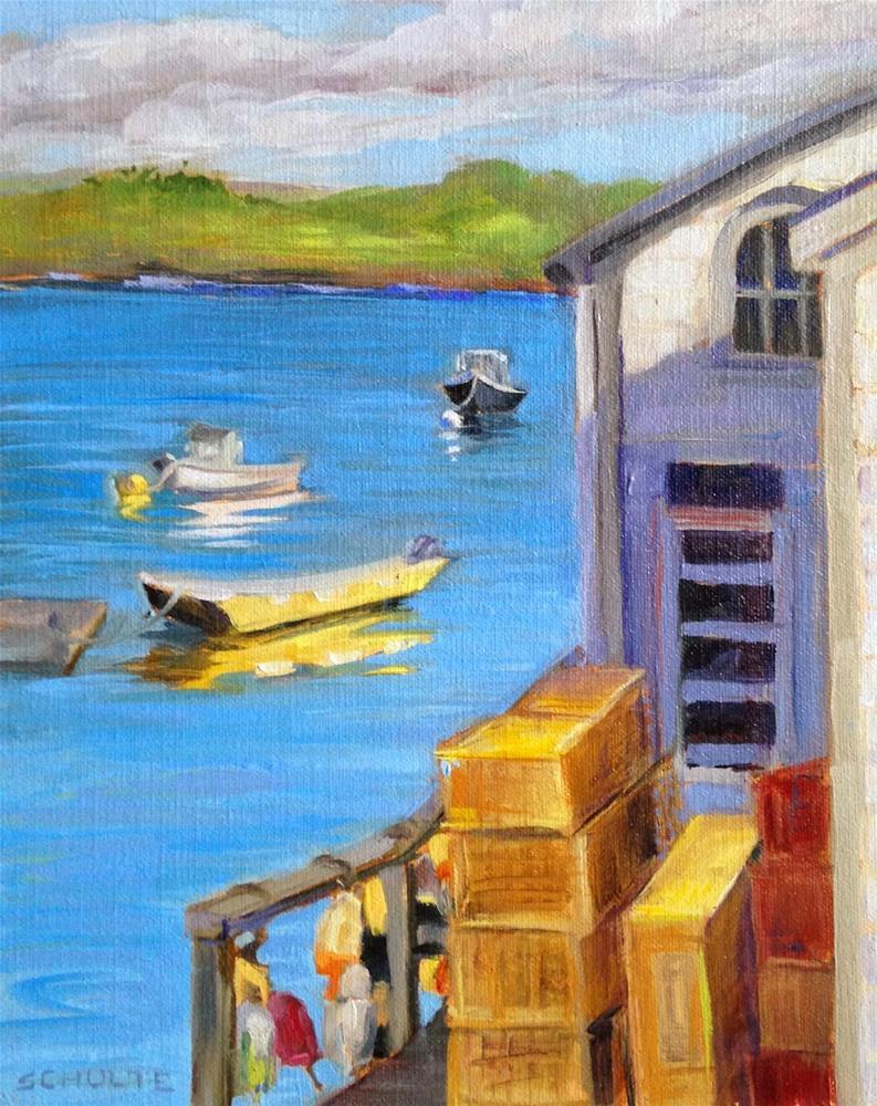 """""""Yellow Boat"""" original fine art by Lynne Schulte"""