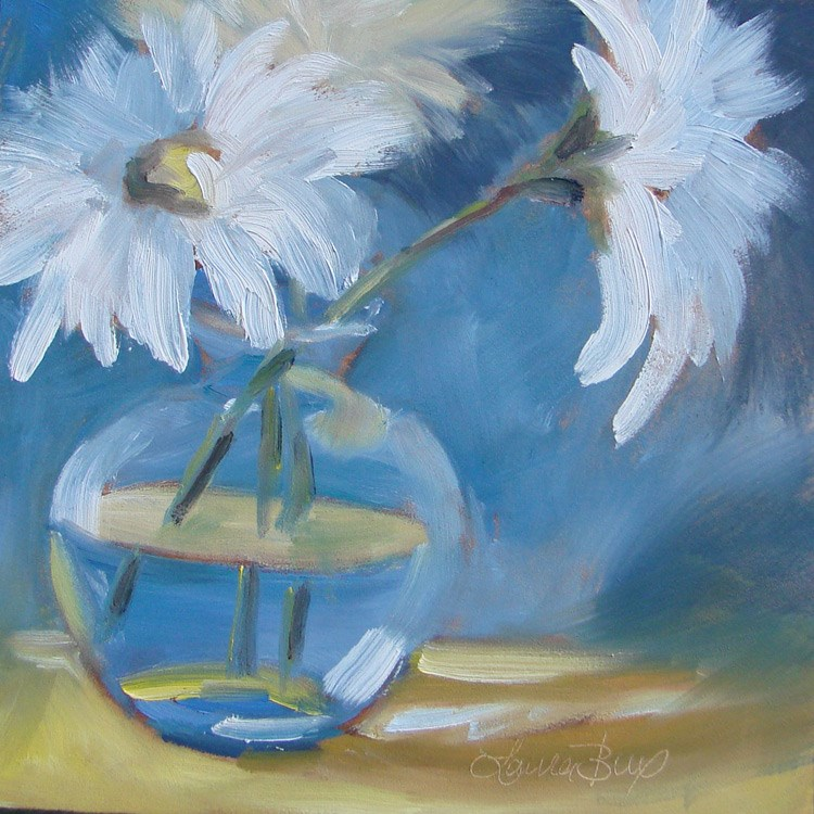 """Last of the Daisies 442"" original fine art by Laura  Buxo"