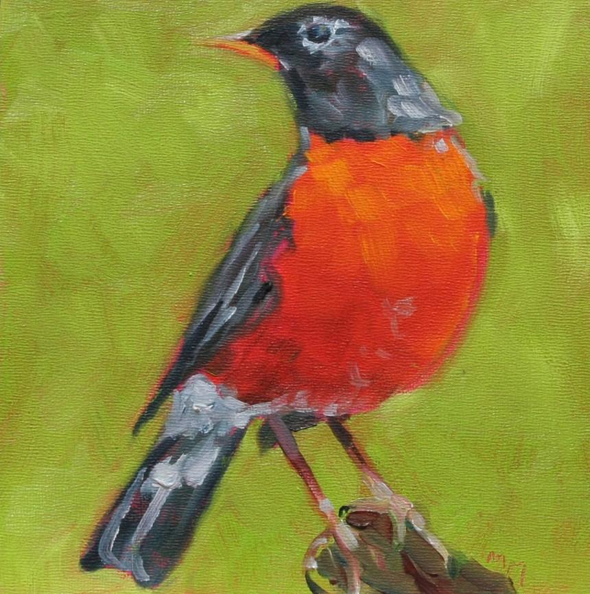 """Robin"" original fine art by Maria McNitt"
