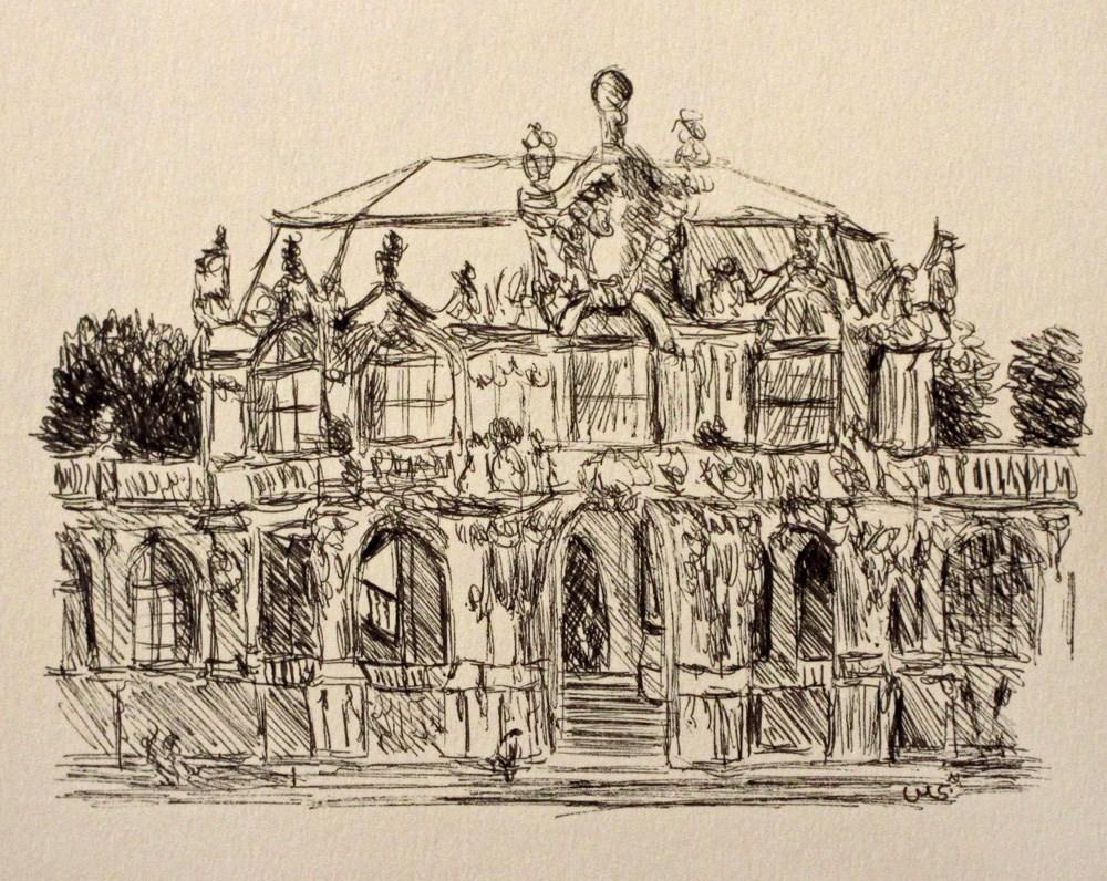 """""""Zwinger Palace Dresden"""" original fine art by Ulrike Miesen-Schuermann"""