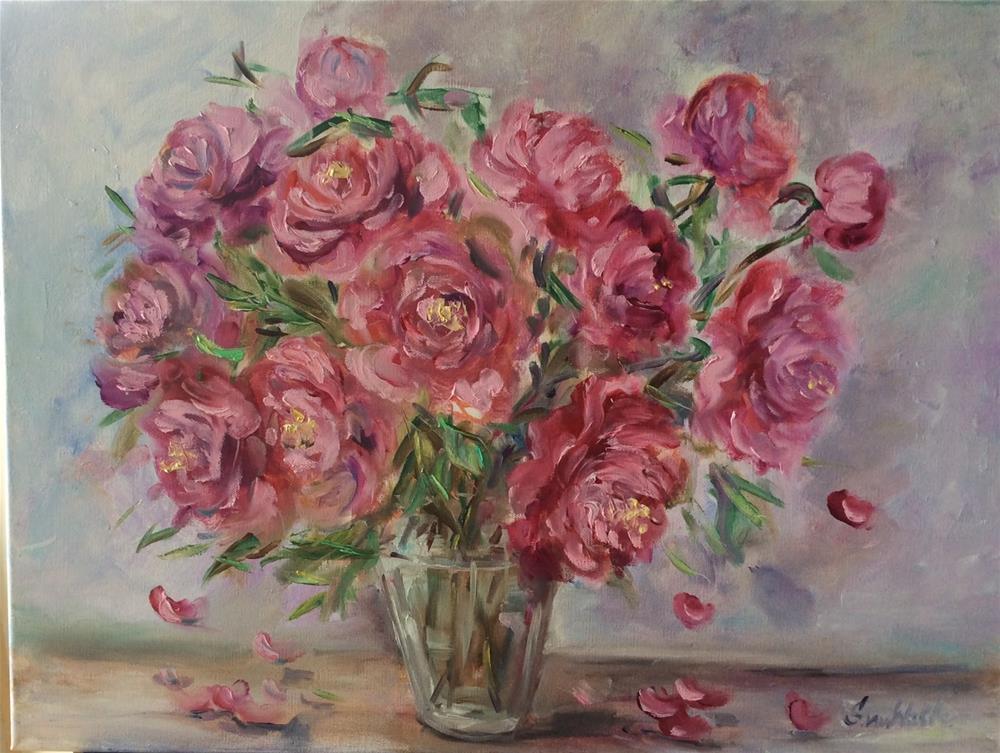 """""""June peonies"""" original fine art by Sonia von Walter"""