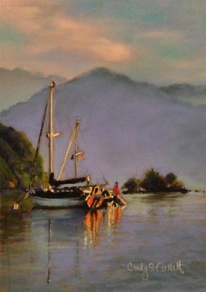 """Cozy Cove"" original fine art by Cindy Gillett"