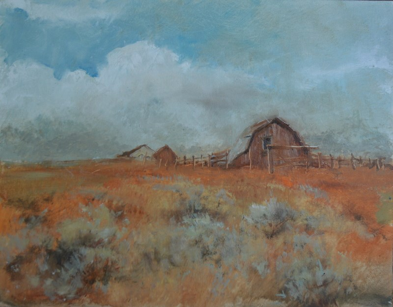 """Approaching storm"" original fine art by Dorothy Redland"